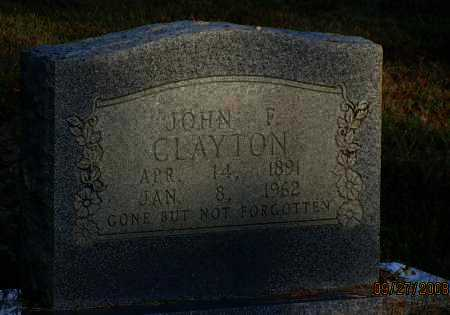CLAYTON, JOHN FRED - Van Buren County, Arkansas | JOHN FRED CLAYTON - Arkansas Gravestone Photos