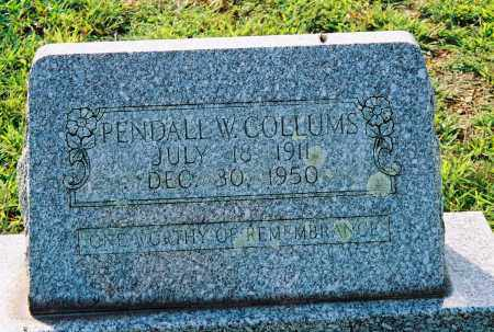 COLLUMS, PENDALL W - Van Buren County, Arkansas   PENDALL W COLLUMS - Arkansas Gravestone Photos