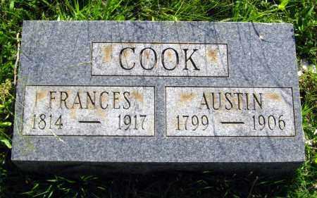 COOK, FRANCES - Van Buren County, Arkansas | FRANCES COOK - Arkansas Gravestone Photos