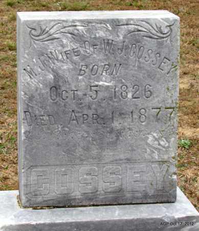 COSSEY, M J - Van Buren County, Arkansas   M J COSSEY - Arkansas Gravestone Photos