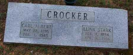 STARK CROCKER, LUNA - Van Buren County, Arkansas | LUNA STARK CROCKER - Arkansas Gravestone Photos