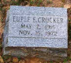 CROCKER, EUPLE E - Van Buren County, Arkansas | EUPLE E CROCKER - Arkansas Gravestone Photos