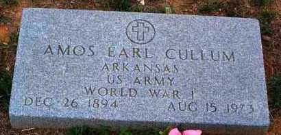 CULLUM (VETERAN WWI), AMOS EARL - Van Buren County, Arkansas | AMOS EARL CULLUM (VETERAN WWI) - Arkansas Gravestone Photos