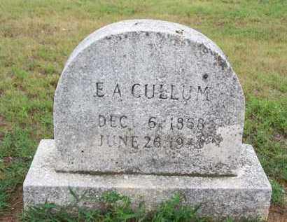 CULLUM, E A - Van Buren County, Arkansas   E A CULLUM - Arkansas Gravestone Photos