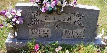 CULLUM, GEORGE P - Van Buren County, Arkansas | GEORGE P CULLUM - Arkansas Gravestone Photos
