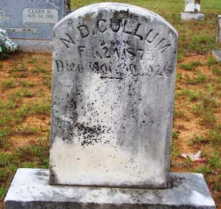 CULLUM, N D - Van Buren County, Arkansas   N D CULLUM - Arkansas Gravestone Photos