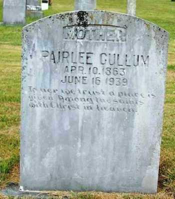 CULLUM, PAIRLEE - Van Buren County, Arkansas | PAIRLEE CULLUM - Arkansas Gravestone Photos