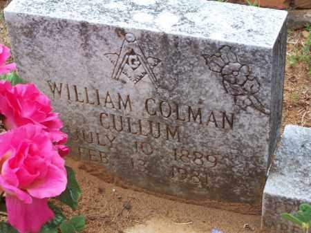 CULLUM, WILLIAM COLMAN - Van Buren County, Arkansas | WILLIAM COLMAN CULLUM - Arkansas Gravestone Photos