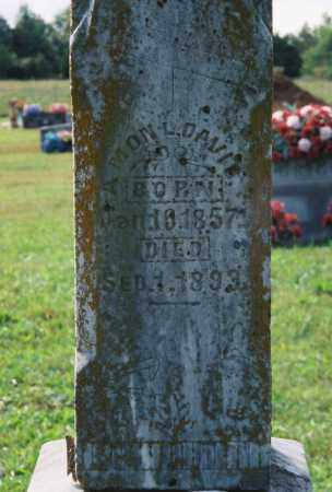 DAVIS, AMON L (CLOSE UP) - Van Buren County, Arkansas | AMON L (CLOSE UP) DAVIS - Arkansas Gravestone Photos