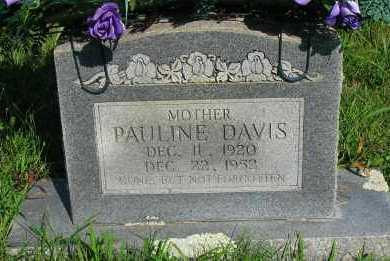DAVIS, PAULINE - Van Buren County, Arkansas | PAULINE DAVIS - Arkansas Gravestone Photos