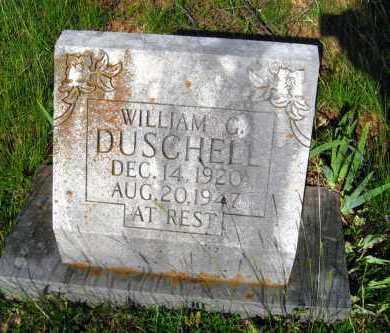 DUSCHELL, WILLIAM G - Van Buren County, Arkansas   WILLIAM G DUSCHELL - Arkansas Gravestone Photos