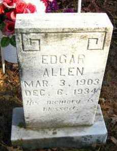 ALLEN, EDGAR - Van Buren County, Arkansas   EDGAR ALLEN - Arkansas Gravestone Photos