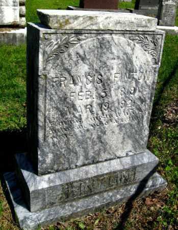 FINTON, FRANCIS - Van Buren County, Arkansas | FRANCIS FINTON - Arkansas Gravestone Photos