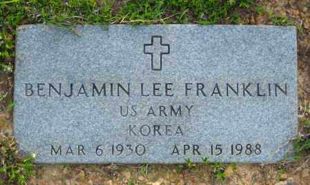 FRANKLIN  (VETERAN KOR), BENJAMIN LEE - Van Buren County, Arkansas | BENJAMIN LEE FRANKLIN  (VETERAN KOR) - Arkansas Gravestone Photos