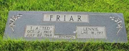"FRIAR, T A  ""TED"" - Van Buren County, Arkansas | T A  ""TED"" FRIAR - Arkansas Gravestone Photos"