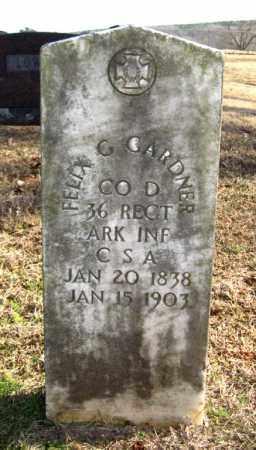 GARDNER (VETERAN CSA), FELIX G. - Van Buren County, Arkansas   FELIX G. GARDNER (VETERAN CSA) - Arkansas Gravestone Photos