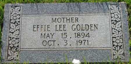 GOLDEN, EFFIE LEE - Van Buren County, Arkansas   EFFIE LEE GOLDEN - Arkansas Gravestone Photos