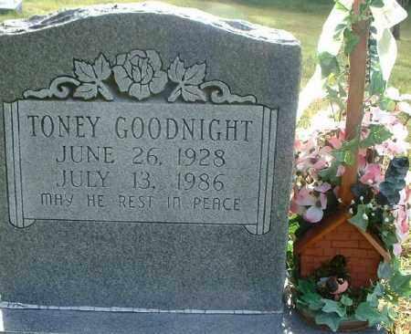 GOODNIGHT, TONEY - Van Buren County, Arkansas   TONEY GOODNIGHT - Arkansas Gravestone Photos