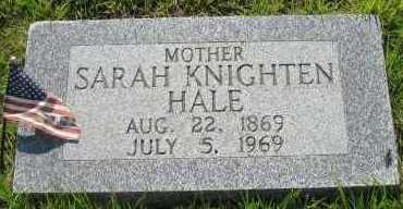 HALE, SARAH KNIGHTEN - Van Buren County, Arkansas | SARAH KNIGHTEN HALE - Arkansas Gravestone Photos