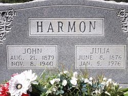 HARMON, JULIA - Van Buren County, Arkansas   JULIA HARMON - Arkansas Gravestone Photos