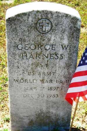 HARNESS (VETERAN 2 WARS), GEORGE W - Van Buren County, Arkansas | GEORGE W HARNESS (VETERAN 2 WARS) - Arkansas Gravestone Photos