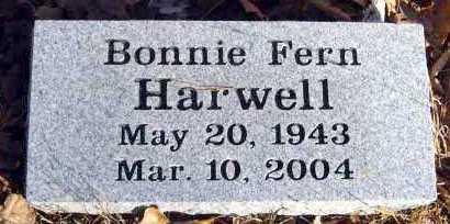 HARWELL, BONNIE FERN - Van Buren County, Arkansas   BONNIE FERN HARWELL - Arkansas Gravestone Photos