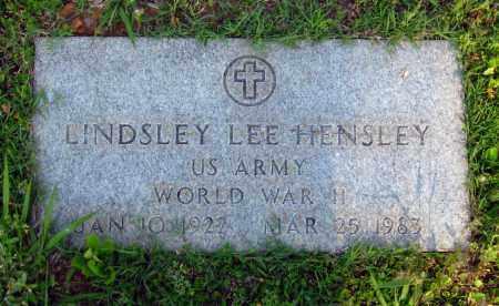 HENSLEY  (VETERAN WWII), LINDSLEY LEE - Van Buren County, Arkansas | LINDSLEY LEE HENSLEY  (VETERAN WWII) - Arkansas Gravestone Photos