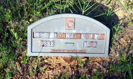 HENSLEY, JOHN - Van Buren County, Arkansas | JOHN HENSLEY - Arkansas Gravestone Photos