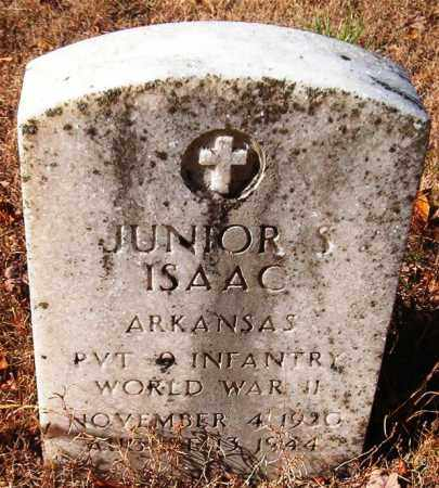 ISAAC  (VETERAN WWII), JUNIOR S - Van Buren County, Arkansas | JUNIOR S ISAAC  (VETERAN WWII) - Arkansas Gravestone Photos