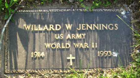 JENNINGS  (VETERAN WWII), WILLARD W - Van Buren County, Arkansas   WILLARD W JENNINGS  (VETERAN WWII) - Arkansas Gravestone Photos