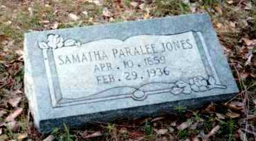 JONES, SAMANTHA PARALEE - Van Buren County, Arkansas | SAMANTHA PARALEE JONES - Arkansas Gravestone Photos