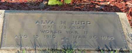 JUDD  (VETERAN WWII), ALVA N - Van Buren County, Arkansas   ALVA N JUDD  (VETERAN WWII) - Arkansas Gravestone Photos