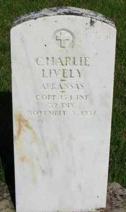 LIVELY (VETERAN), CHARLIE - Van Buren County, Arkansas   CHARLIE LIVELY (VETERAN) - Arkansas Gravestone Photos