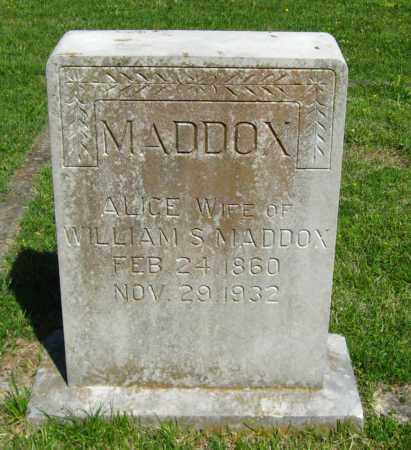 MADDOX, ALICE - Van Buren County, Arkansas | ALICE MADDOX - Arkansas Gravestone Photos