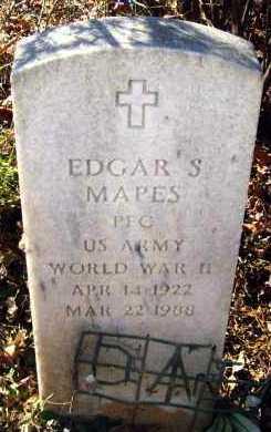 MAPES (VETERAN WWII), EDGAR S - Van Buren County, Arkansas | EDGAR S MAPES (VETERAN WWII) - Arkansas Gravestone Photos