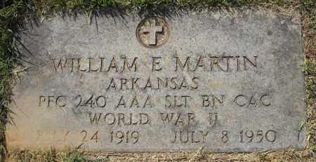 MARTIN (VETERAN WWII), WILLIAM E - Van Buren County, Arkansas | WILLIAM E MARTIN (VETERAN WWII) - Arkansas Gravestone Photos