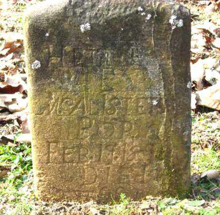 MCALISTER, HETTIE F - Van Buren County, Arkansas   HETTIE F MCALISTER - Arkansas Gravestone Photos