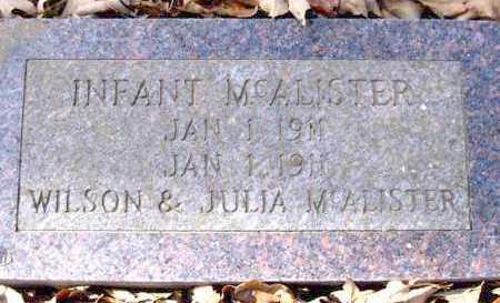 MCALISTER, INFANT - Van Buren County, Arkansas   INFANT MCALISTER - Arkansas Gravestone Photos