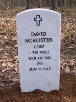 MCALISTER (VETERAN 1812), DAVID - Van Buren County, Arkansas   DAVID MCALISTER (VETERAN 1812) - Arkansas Gravestone Photos
