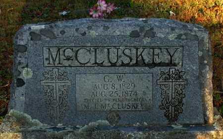 MCCLUSKEY, G W - Van Buren County, Arkansas | G W MCCLUSKEY - Arkansas Gravestone Photos