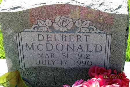 MCDONALD, DELBERT - Van Buren County, Arkansas   DELBERT MCDONALD - Arkansas Gravestone Photos