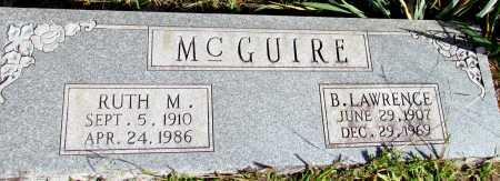 MCGUIRE, B LAWRENCE - Van Buren County, Arkansas | B LAWRENCE MCGUIRE - Arkansas Gravestone Photos