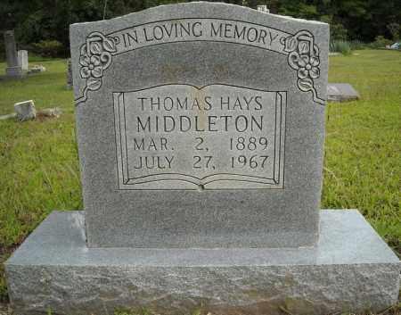 MIDDLETON, THOMAS HAYS - Van Buren County, Arkansas | THOMAS HAYS MIDDLETON - Arkansas Gravestone Photos