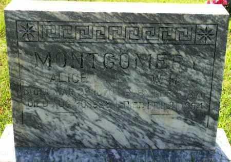MONTGOMERY, W  H - Van Buren County, Arkansas | W  H MONTGOMERY - Arkansas Gravestone Photos