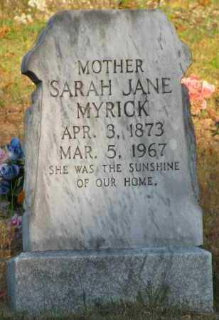 MYRICK, SARAH JANE - Van Buren County, Arkansas | SARAH JANE MYRICK - Arkansas Gravestone Photos