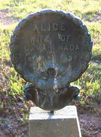 NADA, ALICE - Van Buren County, Arkansas | ALICE NADA - Arkansas Gravestone Photos