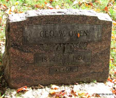 OWEN, GEORGE W - Van Buren County, Arkansas   GEORGE W OWEN - Arkansas Gravestone Photos