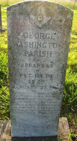 PARISH (VETERAN), GEORGE WASHINGTON - Van Buren County, Arkansas   GEORGE WASHINGTON PARISH (VETERAN) - Arkansas Gravestone Photos