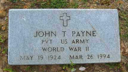 PAYNE  (VETERAN WWII), JOHN T - Van Buren County, Arkansas   JOHN T PAYNE  (VETERAN WWII) - Arkansas Gravestone Photos