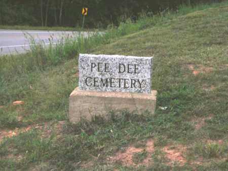 *PEE DEE CEMETERY SIGN,  - Van Buren County, Arkansas    *PEE DEE CEMETERY SIGN - Arkansas Gravestone Photos